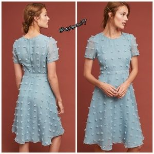 NWT, Anthropologie, Blue Glenda Textured Dress